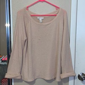 Forever 21 Tan Oversized Sweater